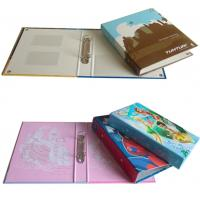 Cheap Custom Design Printing Paper Ring Binder with PVC Holder Inside for sale