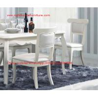 Cheap Ivory Neoclassical Dining Room Furniture collection by rubber wood with Glass or for sale