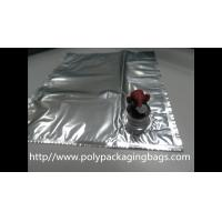 Quality Plastic Flexible Packaging Reusable Bag In Box With Spout , Silver wholesale