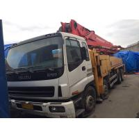 China Yellow Putzmeister 42m Second Hand Concrete Pump Truck With Isuzu Chassis on sale