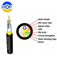 Cheap 24 48 Core ADSS Single Mode Fiber Optical Cable With Span 50-400 meters G652D for sale