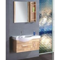 Quality Single ceramic sink thin bathroom vanity , contemporary bathroom vanity cabinets colors available wholesale