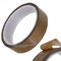 Quality Masking Sealing PTFE Glass Cloth Tape 0.08MM Thickness High Temperature Resistant wholesale