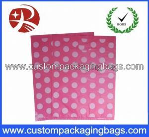 China OEM Leak Proof Die Cut Handle Eco-friendly Plastic Bags For Gift on sale