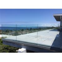China Outdoor Frameless Glass Railing DIY Installation Glass Balustrade Design on sale