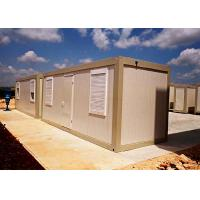 Quality Powder Coated Mobile Container Homes , Vacation Standard Moving Storage Containers wholesale