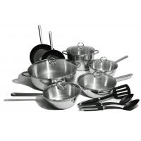 China 12pcs stainless steel cookware sets on sale