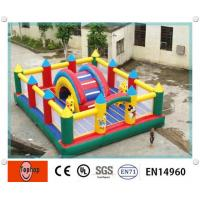 Quality Outdoor PVC tarpaulin Fire Retardant Big inflatable fun city for water park equipment wholesale