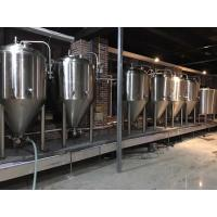 Quality 2000L Large Scale Brewing Equipment 304 Sanitary Pumps With VFD Controls wholesale