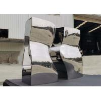 Quality Garden Modern Outdoor Statues Mirror Stainless Steel Public Art Sculpture wholesale