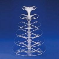 Quality Customized Crystal Acrylic Cake Display Modern Acrylic Wedding Cake Stands wholesale