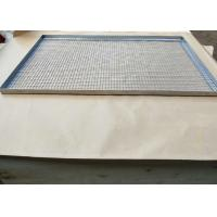 Quality 304 316 0.8mm stainless steel crimped wire mesh food grade tray wholesale