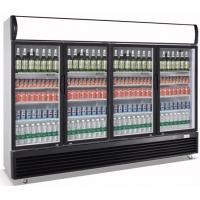 Quality 1630L Upright Commercial Display Cooler , Four Glass Door Display Fridge wholesale