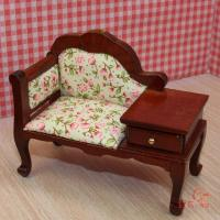 Quality 1:12 scale dollhouse miniature ,dollhouse furniture sofa with the drawer (JJ007) wholesale