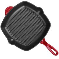 Quality Enamel square cast iron grill pan 26cm wholesale
