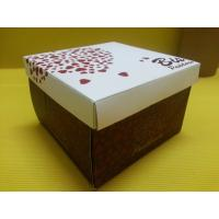 Food Packing Paper Tube Containers Romantic Sweet Cake Box With Rectangle Shape