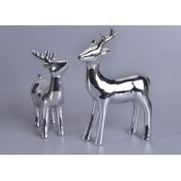 Quality Silver Mercury Animal Ceramic Mantle Shelf Table Centerpiece Deer Decor wholesale