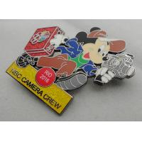 Quality NBC Camera Crew Disney Pin Badge by Zinc Alloy, Synthetic Enamel, Black Nickel, Glitter Filled wholesale