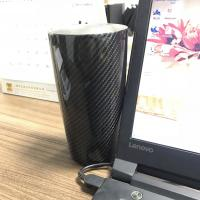 China Custom Gorgeous Carbon Fiber Stainless Steel Water Cup for Vehicle Use on sale