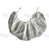 Quality Single / Double Elastic Disposable Surgical Caps , Non Woven White Surgical Beard Mask wholesale