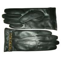 Quality Ladies Fashion Leather Gloves With Golden Chain (YKY5043) wholesale