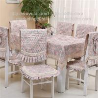 China Cotton floral tablecloth and quilt stitch chair cover and seat cushion for six seater, on sale