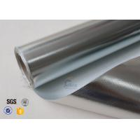 Quality 0.43mm Reflective Aluminium Foil Fabric Fibreglass 3732 480g/M2 wholesale