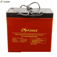 Quality High Temperature Storage Deep cycle Solar Gel Battery 12v 55Ah with 2 years warranty wholesale