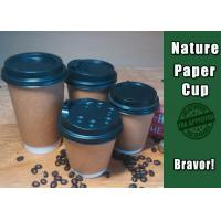Quality Promotional Thick Kraft Paper Cups Disposable With Custom Logo Printing wholesale