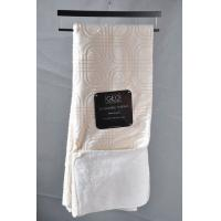 Quality Optical Square Embossed Micro mink blanket With Overlock Edge Packed With Hanger wholesale