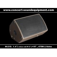 "Quality 475W Concert Sound Equipment 1.4"" + 15"" Stage Monitor , Full Range Speaker For Installation wholesale"