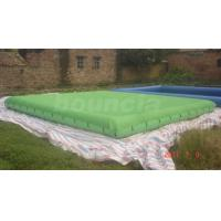 Quality Green Color Inflatable Pool Covers / Inflatable Swimming Pond wholesale