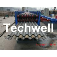 Quality 50Hz, 3 Phase Silo Steel Corrugated Sheet Roll Forming Machine With 18 Stations wholesale