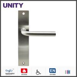 Quality Stainless Steel Fire Door Lever Handle EN1906 and EN1634 Satin Finish wholesale