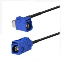 """Quality RF design RF Pigtail Cable blue Fakra C Jack with RA Female  and blue Fakra C Jack with RG174 6"""" wholesale"""