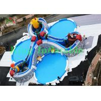 China Huge Inflatable Water Parks With Cartoon Characters , Slides , Swimming Pools on sale