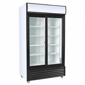 Quality Digital Temperature Control Upright Glass Door Freezer 220V / 60Hz For Beverage wholesale