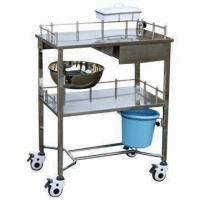 Treatment Trolley with 2 Layers and Drawer, Made of Stainless Steel
