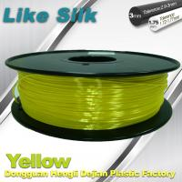 Quality Yellow Colors 3D Printer Filament Polymer Composite ( Like Silk ) 1.75mm / 3.0mm Filament wholesale