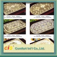 China Rectangle square Table Mats Design Vinyl Table Cloth 0.08mm - 0.30mm Thickness on sale