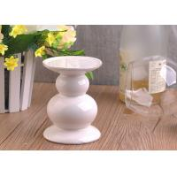 Quality Long Stem Ceramic Candle Holder , White Ceramic Pillar Candle Holder wholesale