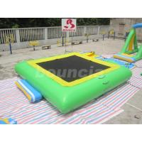 Quality Square Shape Good Airtightness Inflatable Water Trampoline For Lake wholesale