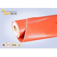 China 3732 Red Thermal Insulation Fabric Fireproof Fiberglass Cloth Silicone Rubber Coating on sale