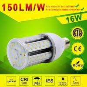 China Aluminum Body LED Post Top Retrofit Lamp 16W LED Corn light 130lm/w 150lm/w DLC,ETL approval on sale