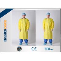 Buy cheap Antibacterial Disposable Protective Gowns / CPE Isolation Gown With Thumb Up from wholesalers