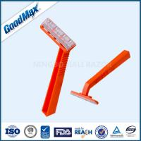 Quality Plastic Single Blade Shaving Razor , Orange Color Single Blade Cartridge Razor wholesale