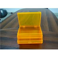 Quality Orange 2layers Acrylic Jewelry Display Case With Drawers , Dyeing And Painting wholesale