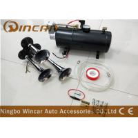 Quality 3 Trumpet 12V Portable Air Compressor 135DB Train Air Horn Black 150 PSI Full Onboard System Kit wholesale