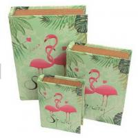 China Antique Crane Design Home Decorative Storage Decorative  Crane Storage Boxes Wood Display Book Box on sale