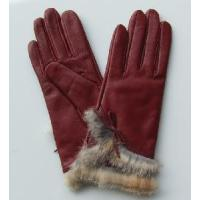Quality Red Fashion Gloves with Fur wholesale